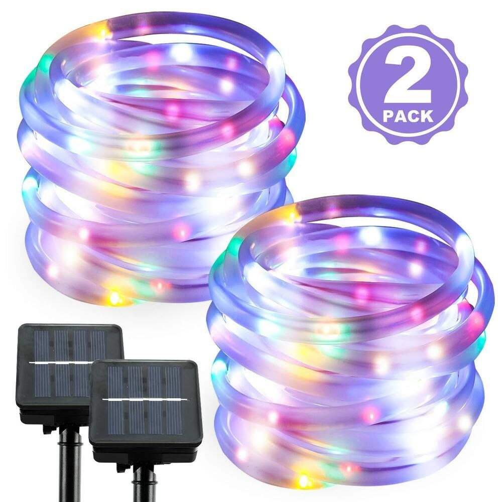Pin On 39ft 100 Leds Solar Powered Waterproof Outdoor Led Rope Lights Xmas Garden Lamp