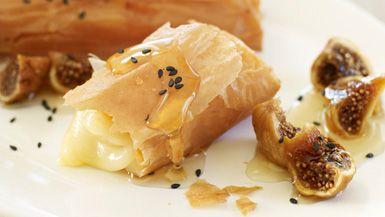 Giada De Laurentiis - Crispy Smoked Mozzarella with Honey and Figs