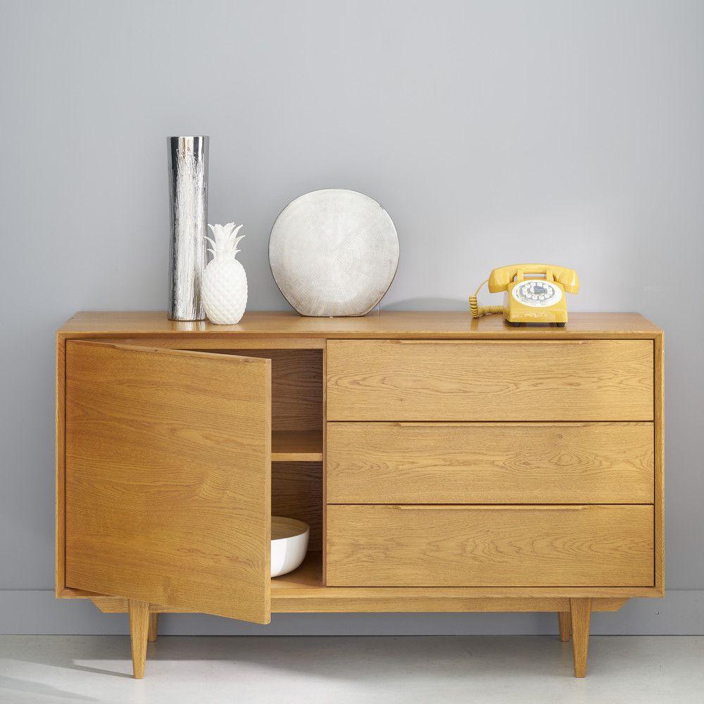french solid oak scandinavian style sideboard in 2019. Black Bedroom Furniture Sets. Home Design Ideas