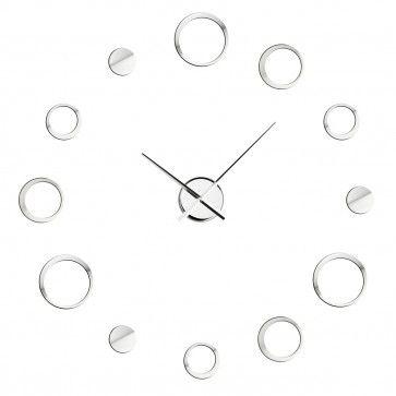 DIY Wall #Clock, 12 Chrome Effect Circles, Customizable Layout http://bit.ly/1ALHRMi