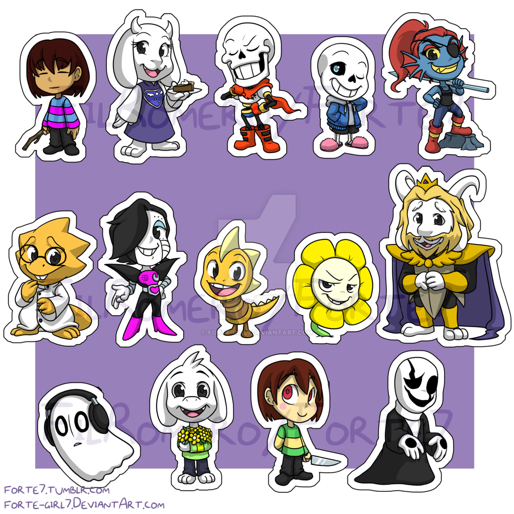 Stickers Undertale By Forte Girl7 D9syi6v Png 1024 1024