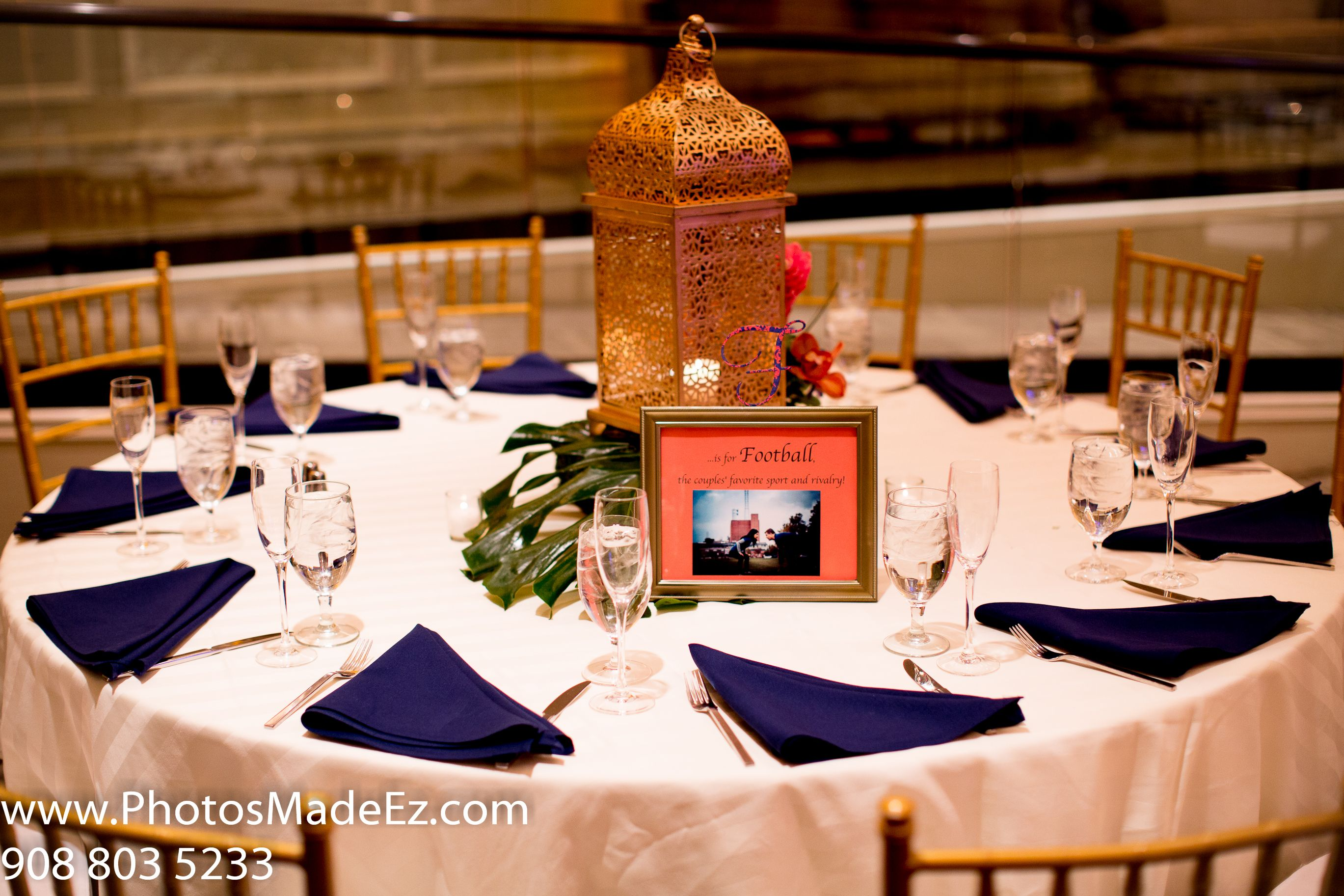 Center piece photo by new jersey based wedding photographer