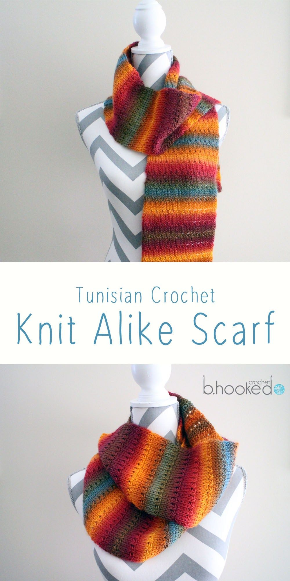 Knit Alike Tunisian Crochet Scarf - Free Pattern & Tutorial | Blusas ...