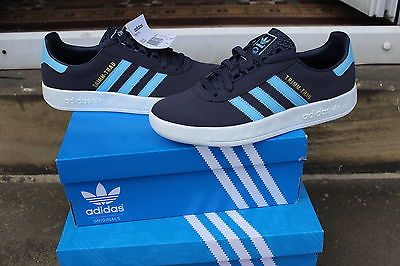 fusión once Superficie lunar  adidas trimm trab mens trainers uk 9 80s casuals argentina blue