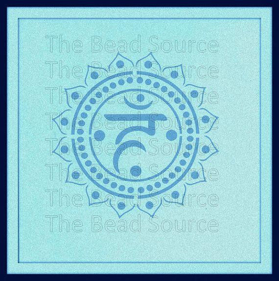 Throat Chakra Stencil, Yoga Stencil, Mylar Stencil, Chakra Symbol ...
