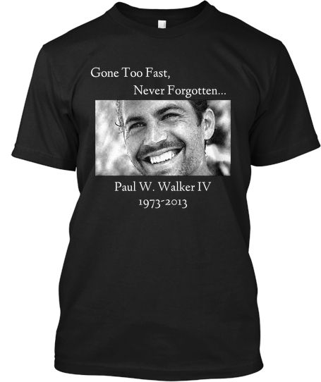 Paul Walker Photo Collage T-Shirt Vêtements et accessoires