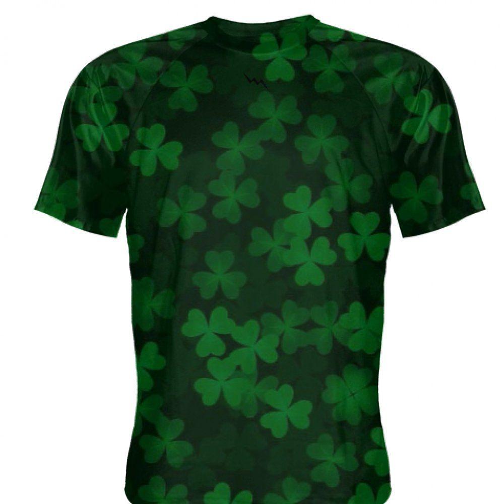 Patricks Day Clover Printed Short Sleeve T-Shirt Tops Ireland Pride Mens St