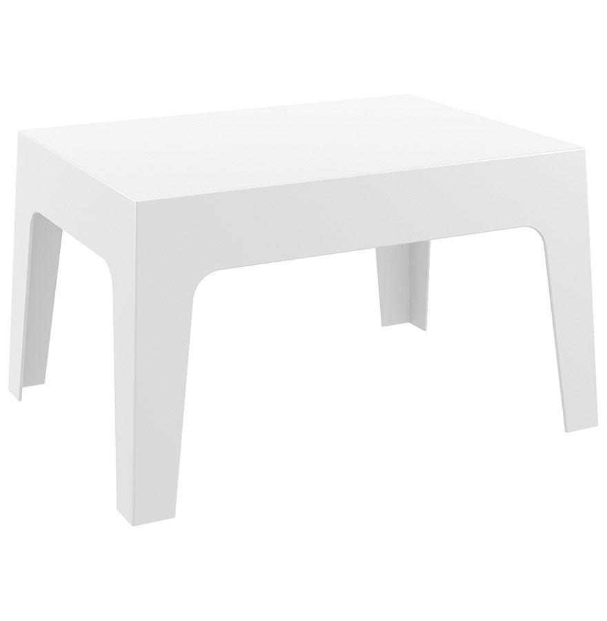 Table basse \'MARTO\' blanche en matière plastique | Table ...
