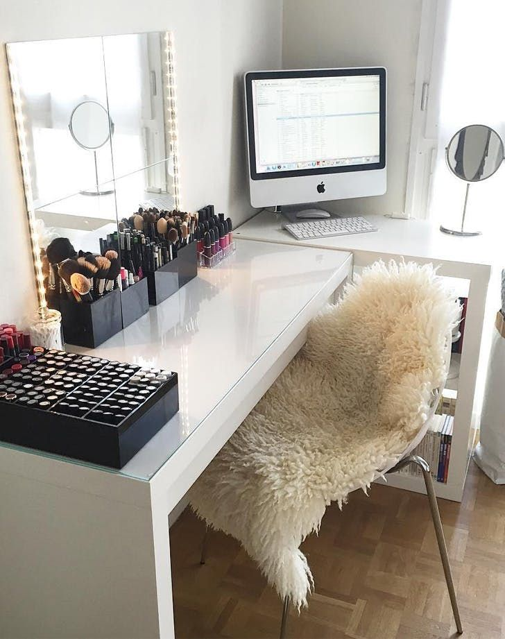magnificent makeup stations design inspirations home decor house also rh pinterest