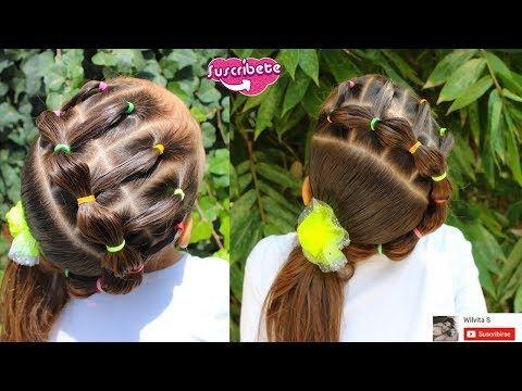Peinado fácil para niña   Easy hairstyle for girl ❤ Chongo - peinados de nia faciles de hacer