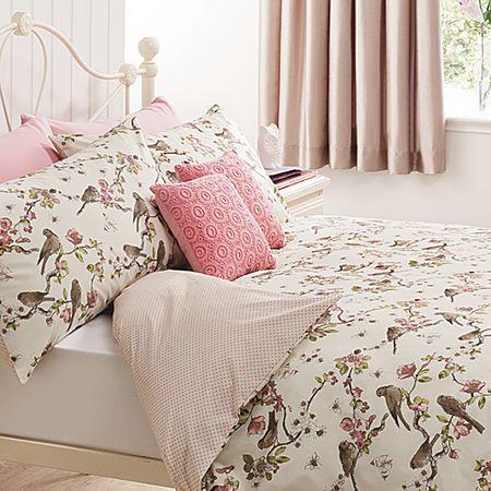 cover size set pink king vintage bedding pillowcase and bird birds duvet