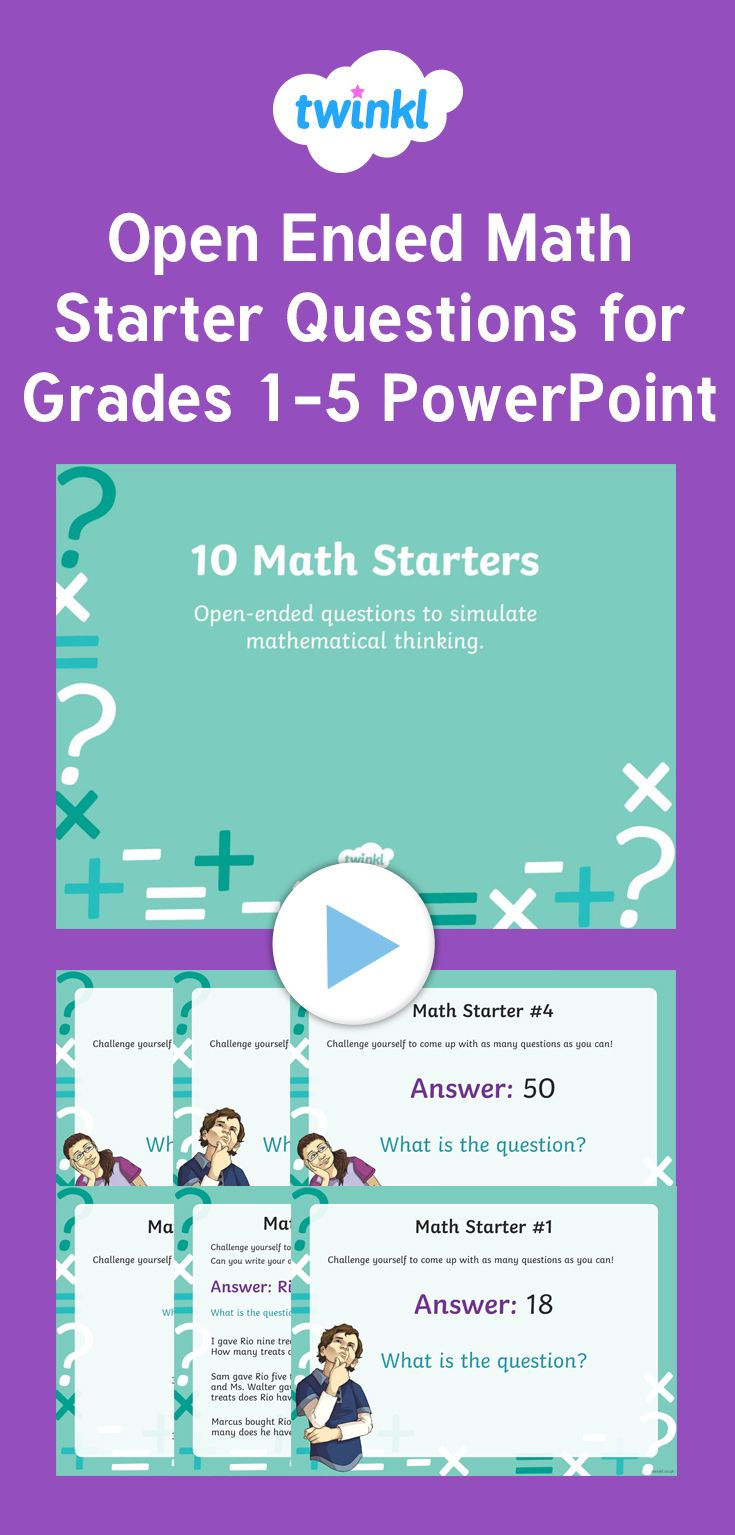Use this PowerPoint to encourage your student\'s mathematical ...