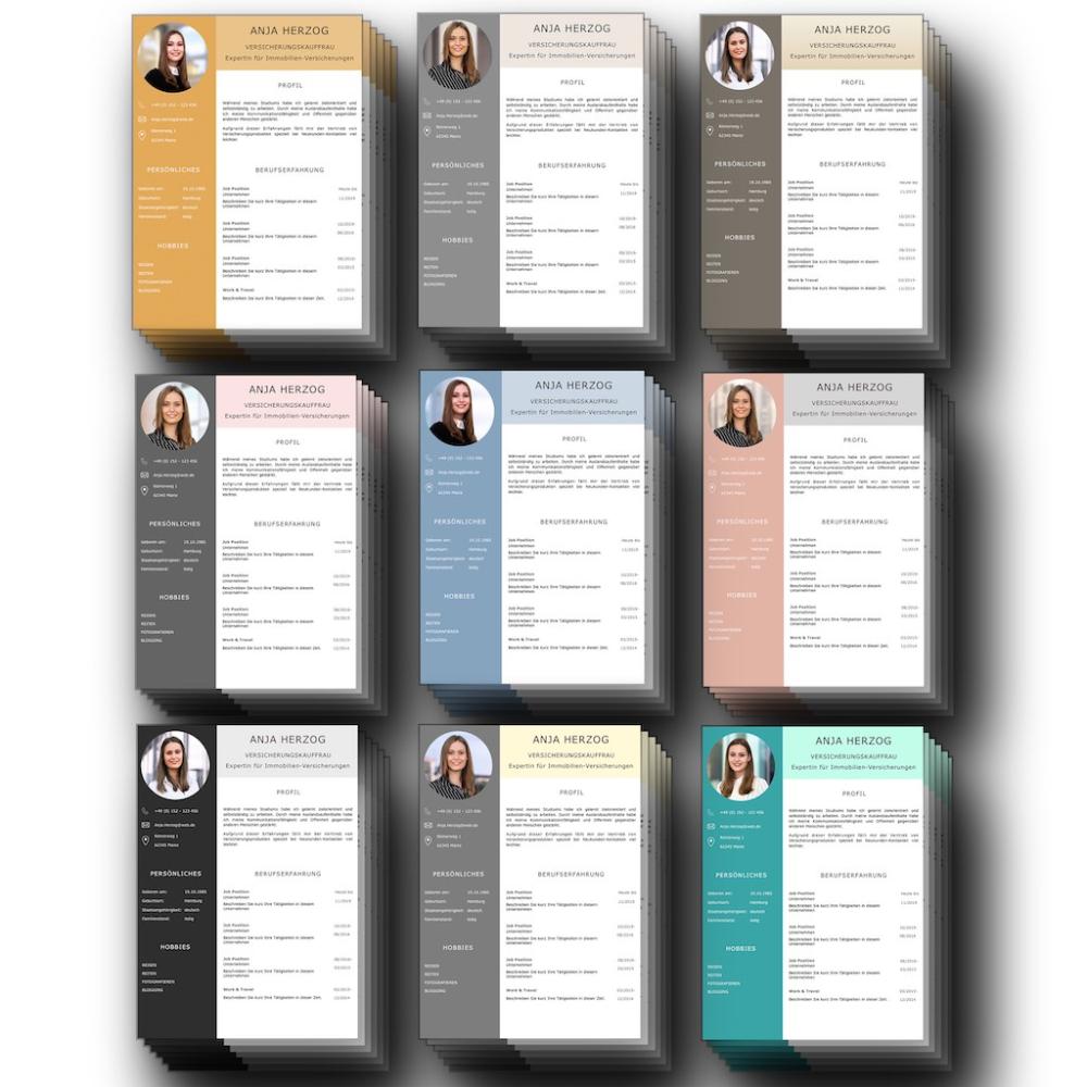 Kompletter Lebenslauf Design Vorlagen Set Fur Bewerber Mit Viel Berufserfahrung Lebenslauf Design Lebenslauf Design Vorlage Lebenslauf Tipps