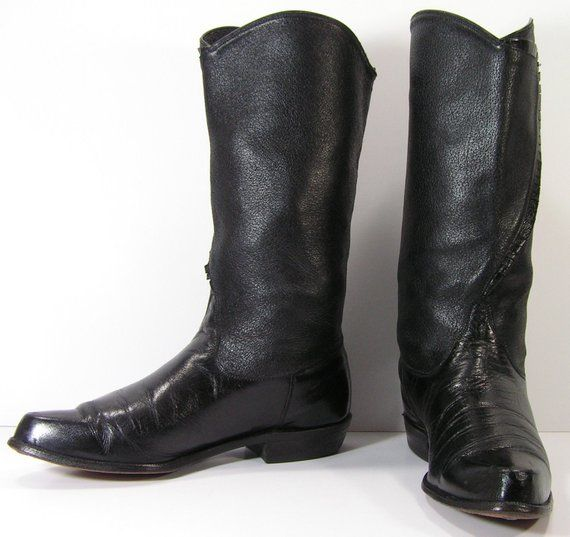 95dde65cbee womens cowboy boots womens 7 m b black vintage western riding biker ...