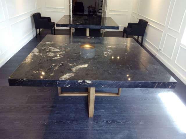 Mesas encimeras marmol granito silestone foto 1 mesas m rmol pinterest granito - Mesa de silestone ...