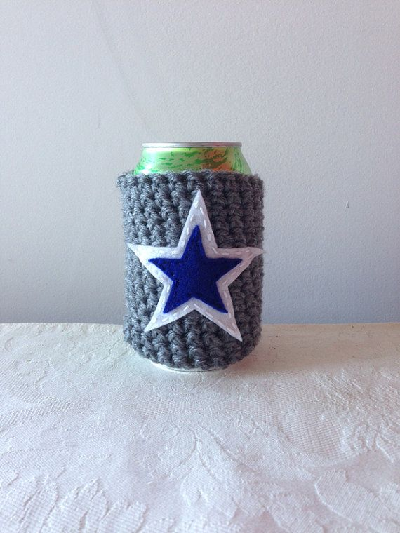Dallas Cowboys Crochet Koozie By Maroozi Maroozi Pinterest