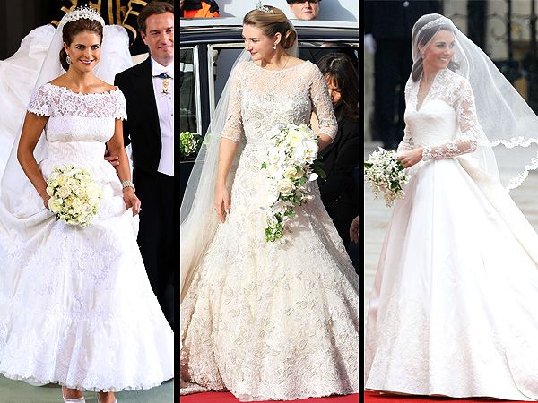 Battle of the european royal brides whose wedding gown is for Wedding dresses in europe