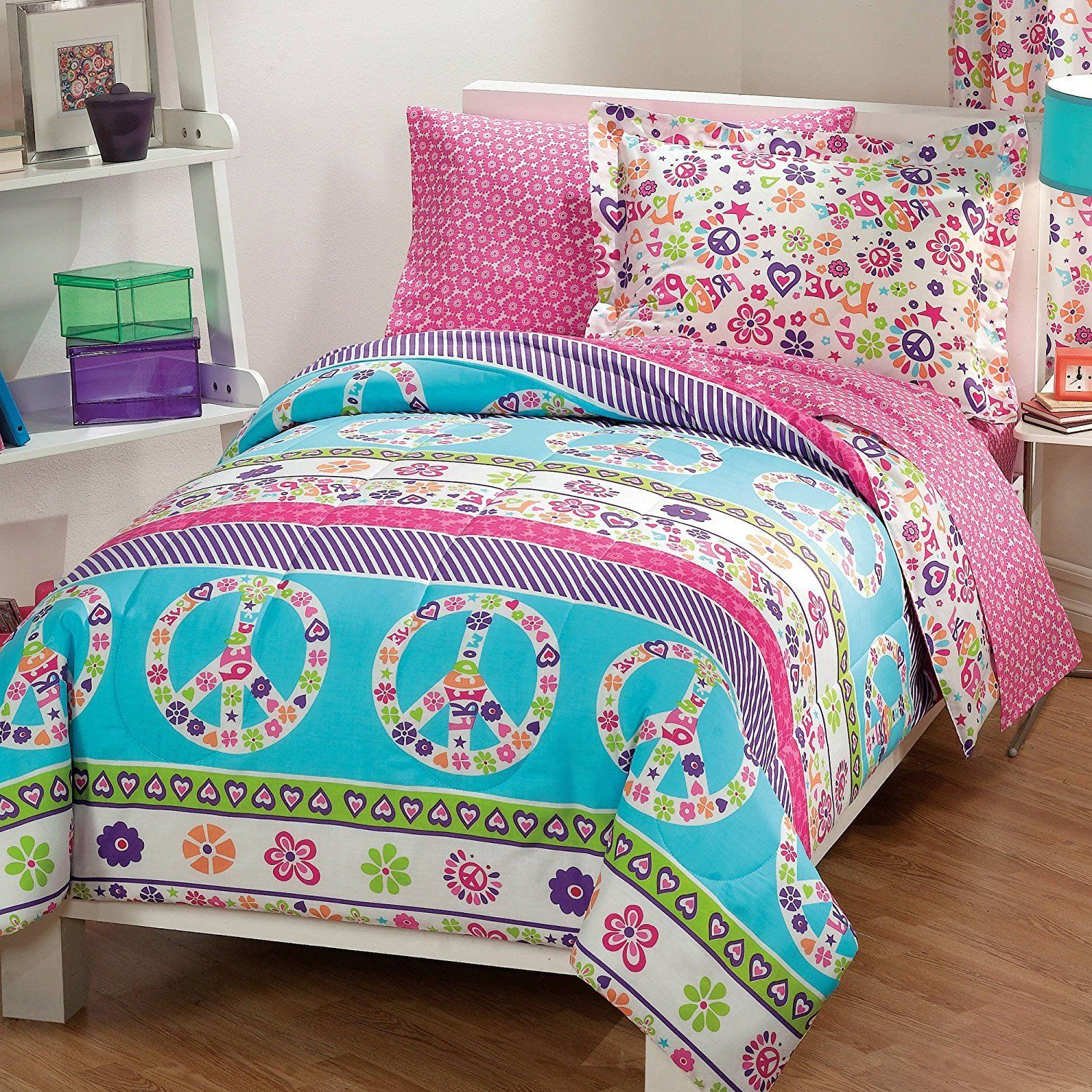 set comforter bedroom and purple with net floral pink white source helena pattern l green