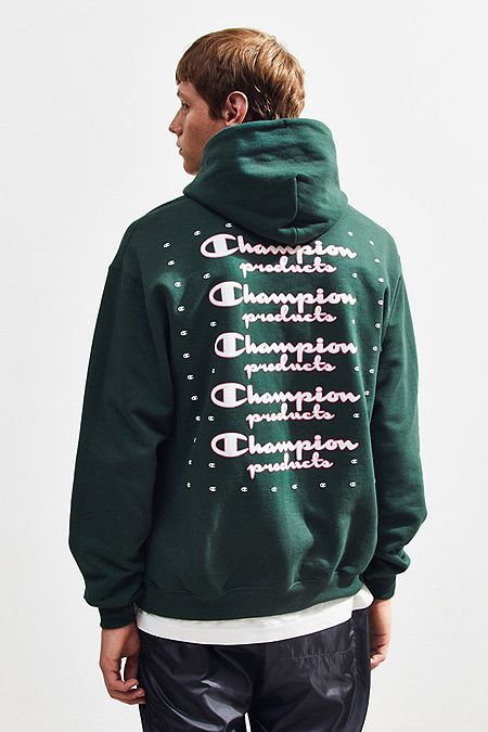 b4d4bbf438 Champion UO Exclusive Neon Stacked Hoodie Sweatshirt in 2019 ...