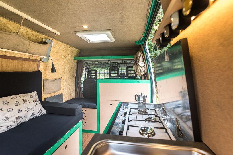 Inside an old van turned tiny mobile home | Vans