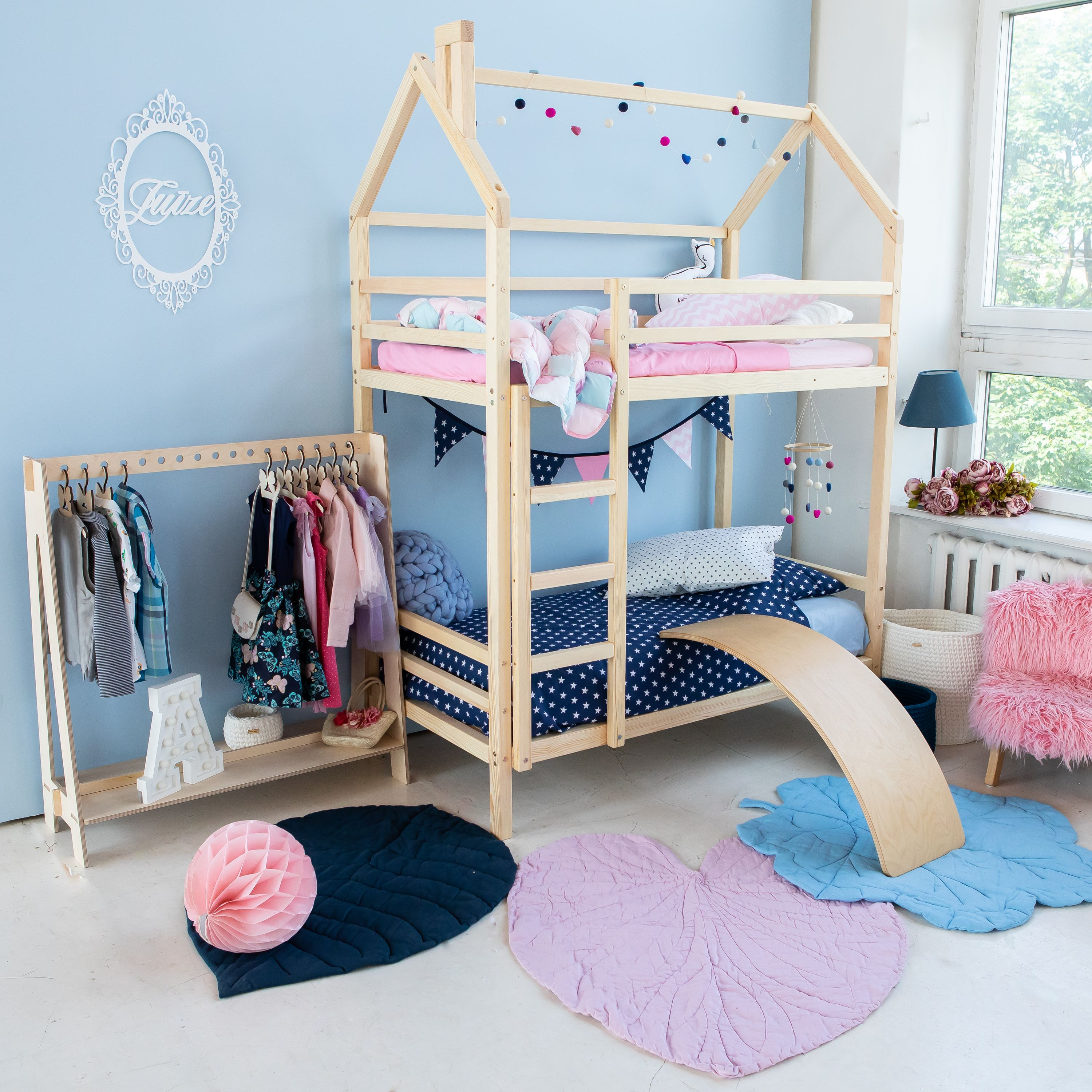 Bunk Bed Children Bed Toddler Bed Twin Bed Frame House Bed
