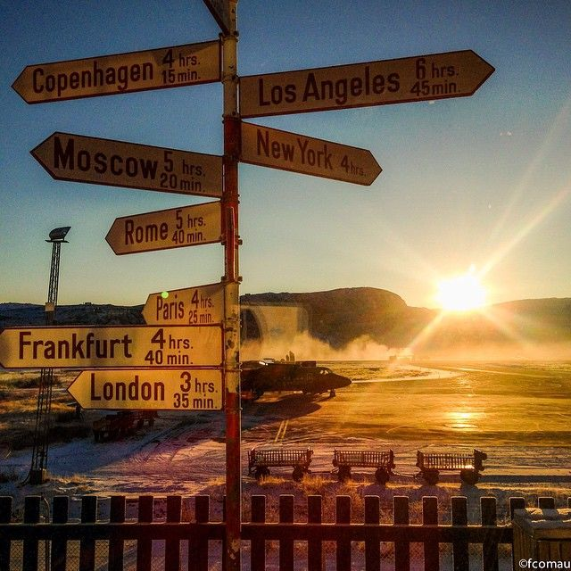Directions #Greenland #directions #sunset #travel #plane #airport #explore #noclouds #unesco