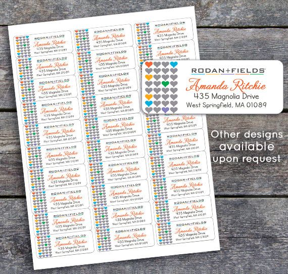 Rodan and Fields Catalog Labels or Return Address Labels **You - adress label template