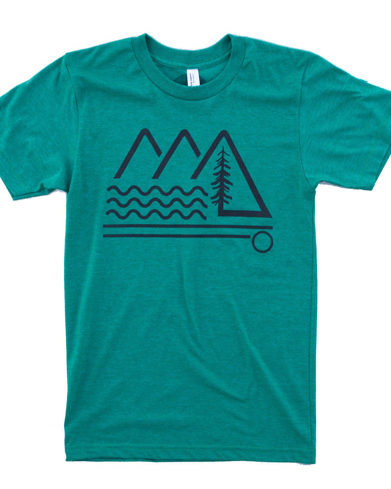 aeefda7d8350d Vintage Green mountain shirt, print on American Apparel tee ...