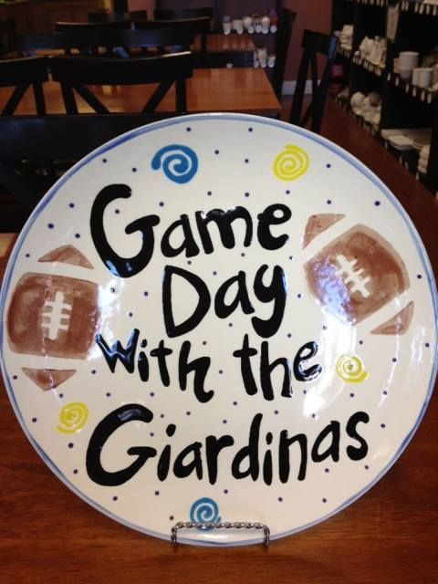 Game day plate made at paint a piece commack ny paint a piece game day plate made at paint a piece commack ny negle Images