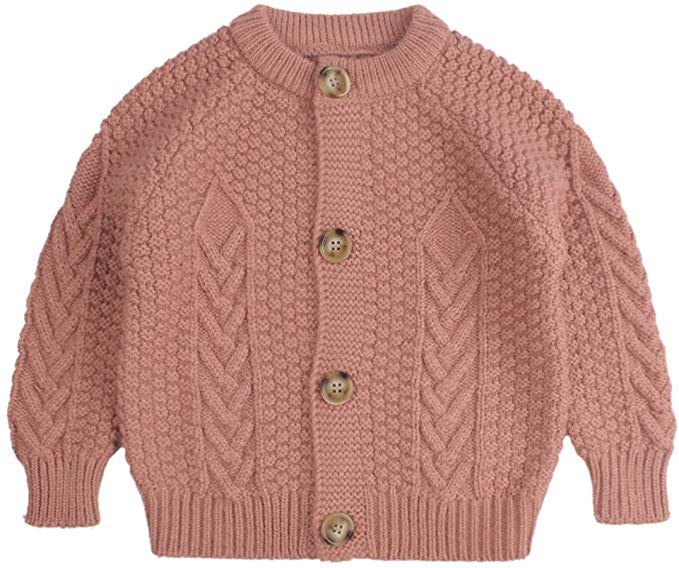 Amazon.com: Twist Baby Girls Sweater Cotton Long Sleeve Cardigan for Girls  Infant Toddler Sweaters Autumn Win…   Baby girl sweaters, Toddler sweater, Girls  sweaters