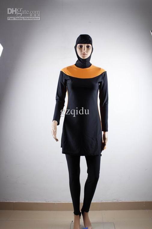 01a1900301 Wholesale Islamic swimming suit modest muslim women swimwear rash guard  long sleeve swimwear bathing suit, Free shipping, $31.39-35.75/Piece |  DHgate