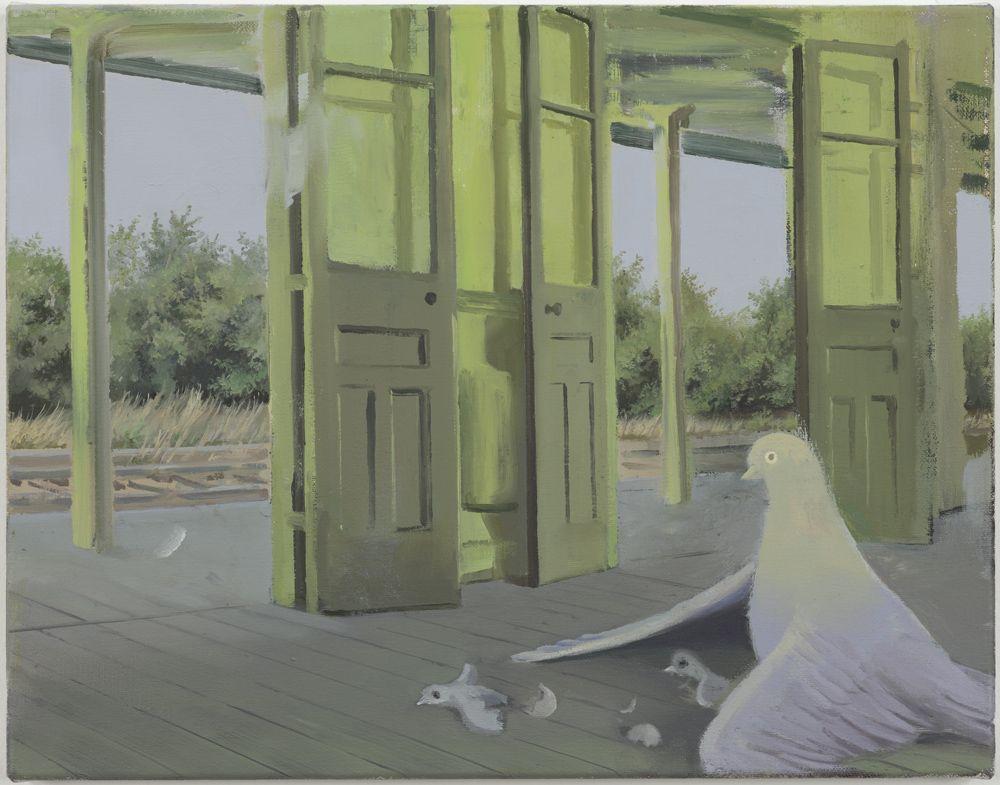 Tilo Baumgärtel (German, b. 1972) At the Start, 2009 Oil on canvas, 35 × 45 cm