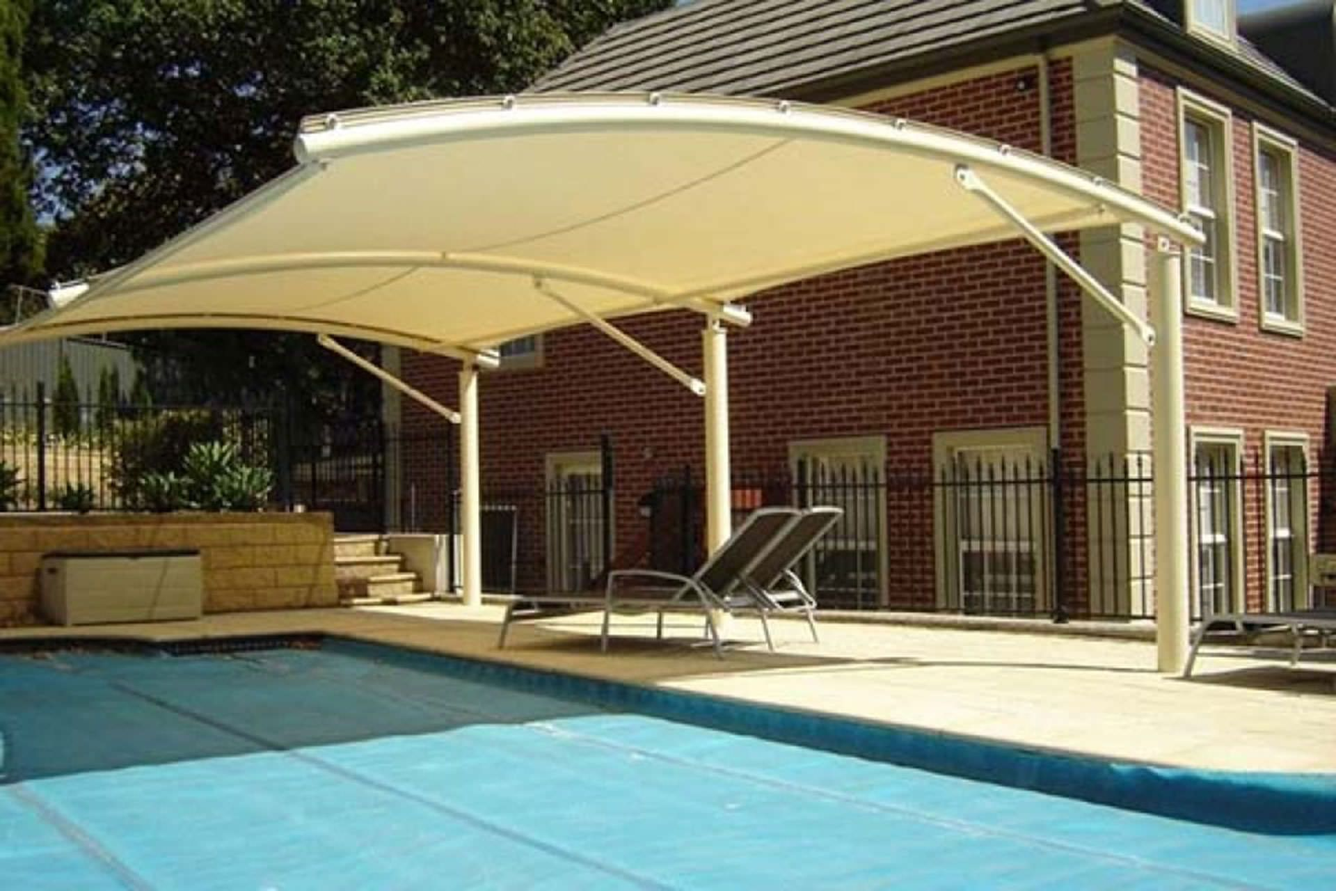 Pool Shade Ideas Cantilevered Pool Shade Pool Canopy Backyard Pool