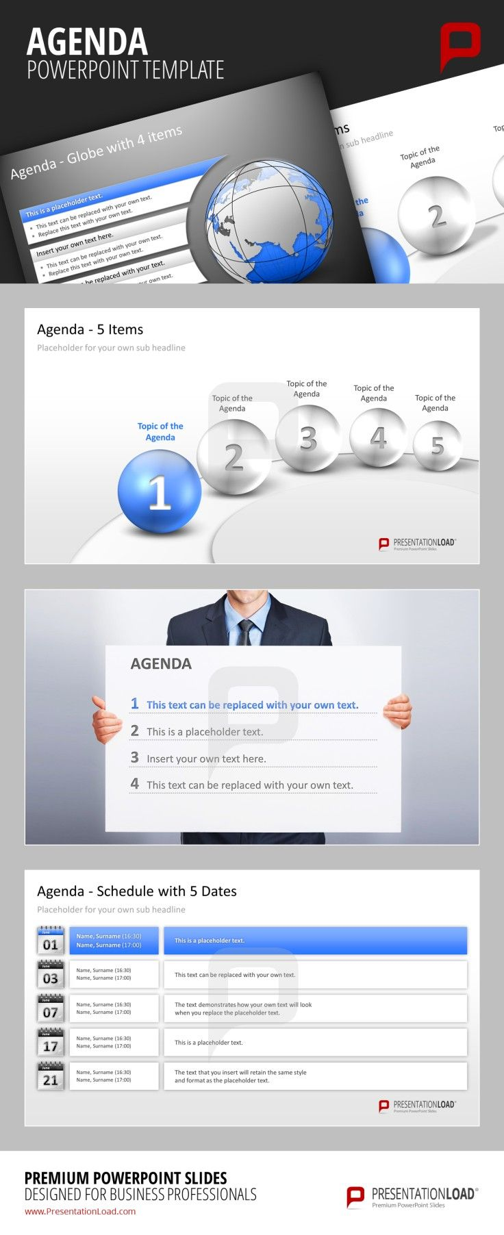Professional PPT Agenda Template: Give your work more structure and ...