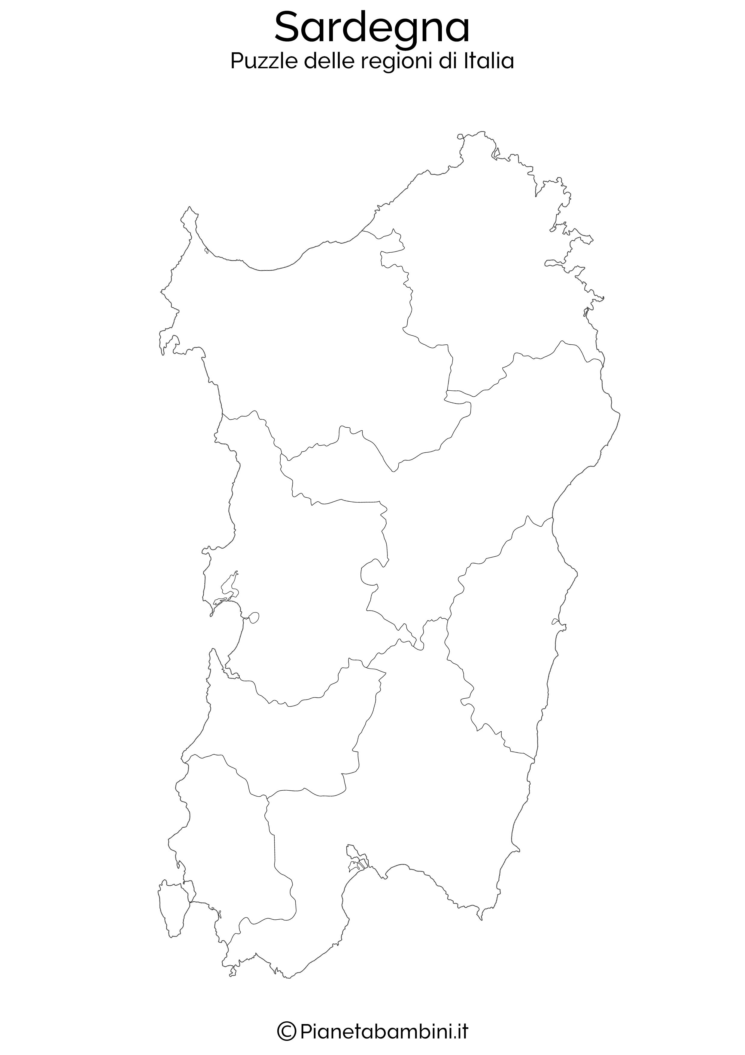 Cartina Muta Sardegna Da Stampare.Puzzle Delle Regioni D Italia Da Stampare Vozeli Com