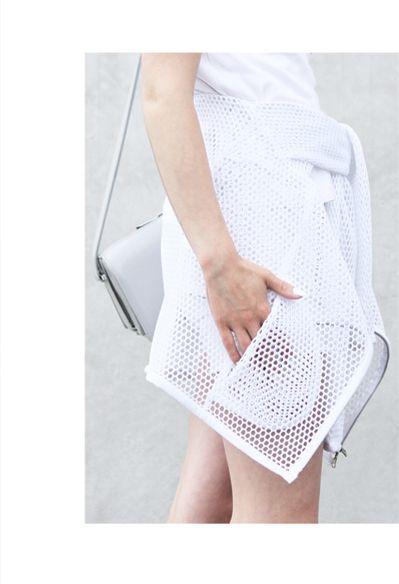 love aesthetics summer uniform - Stills Atelier SS14 mesh bomber