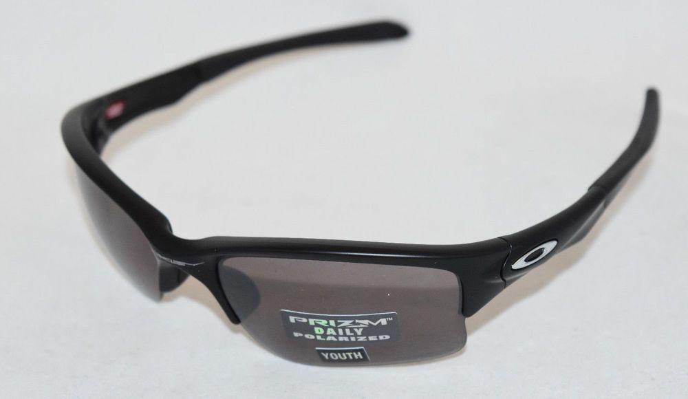 4073da8184 eBay  Sponsored NEW OAKLEY QUARTER JACKET OO9200-17 YOUTH BLACK W  PRIZM  DAILY POLARIZED LENS