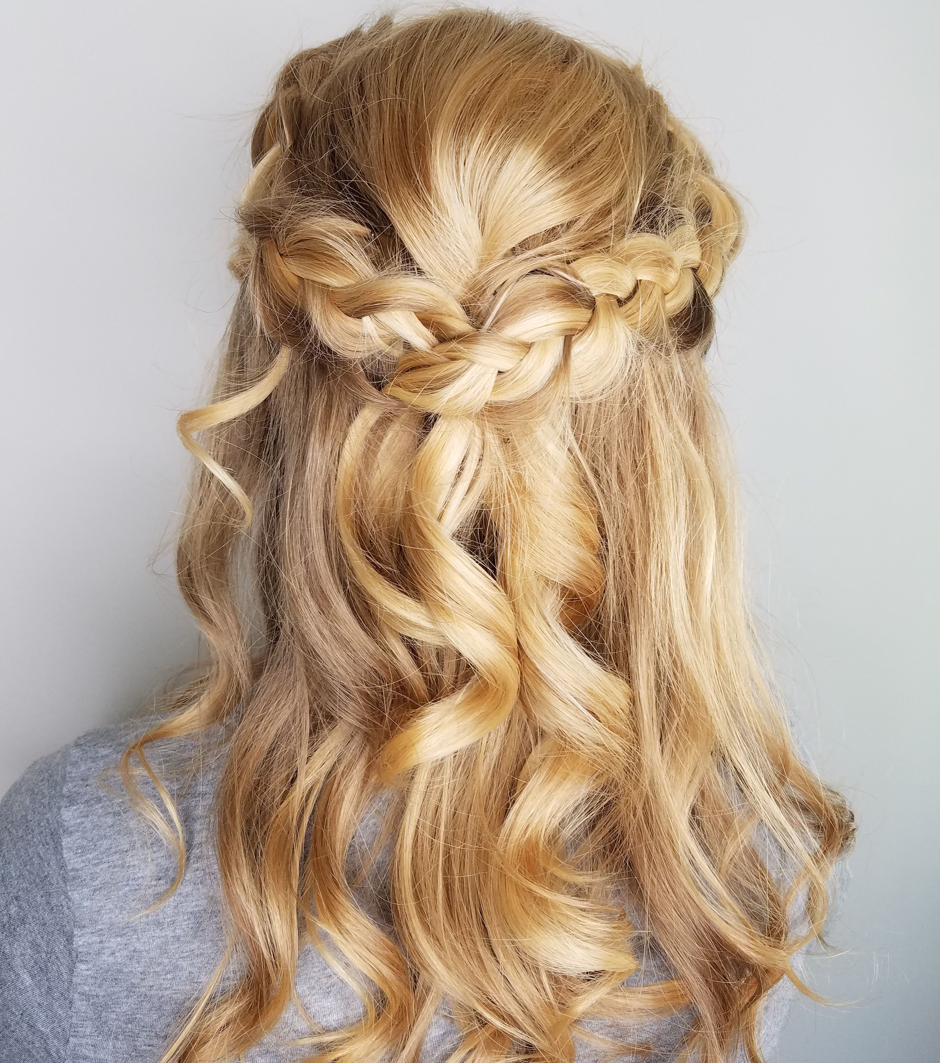 Claireanderrikacom prom hair style half up curls with a loose braid