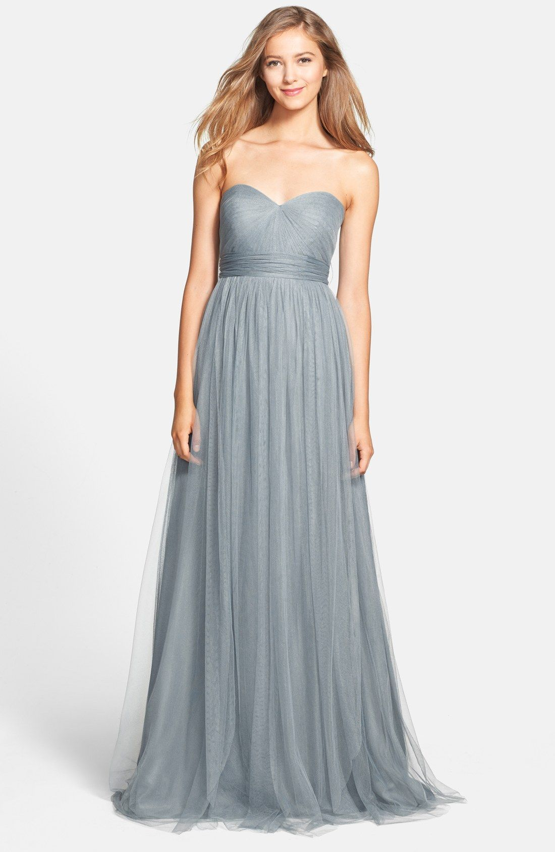 Light Blue Bridesmaid Dresses | Column dress, Wedding and Weddings
