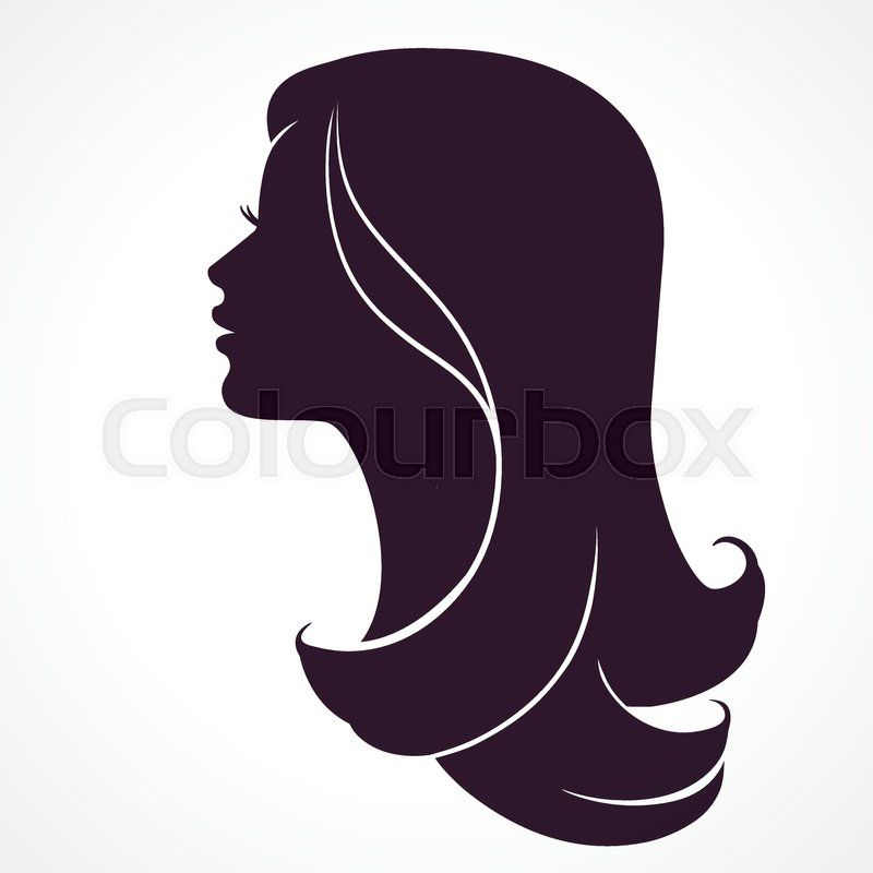 Stock Vector Of Woman Face Profile Female Head Silhouette Hairstyle Long Hair Woman Face Silhouette Silhouette Face Face Profile