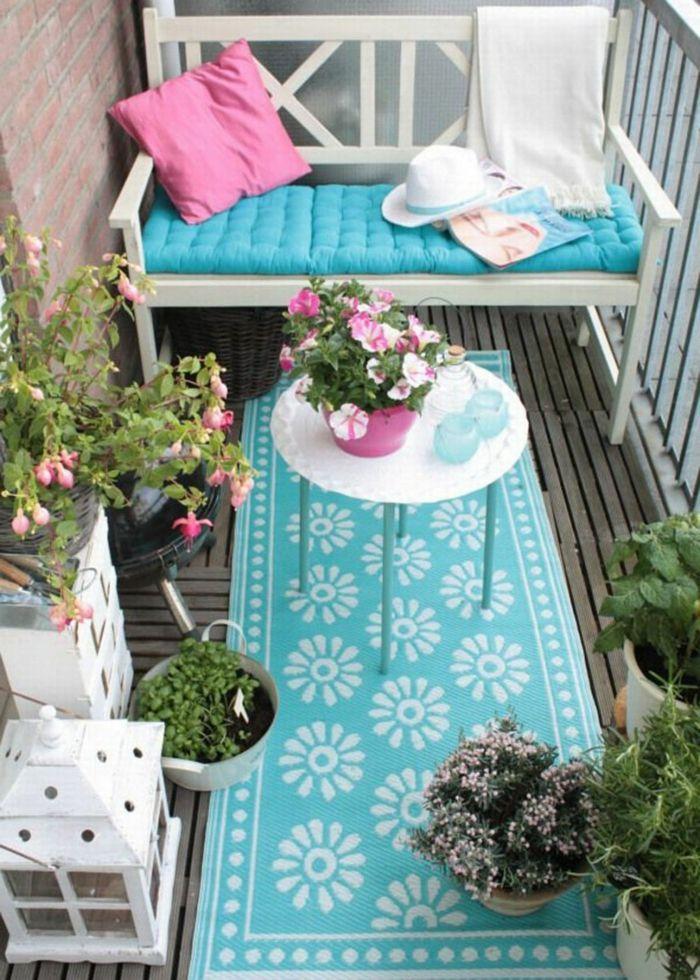 ▷ 1001 + ideas sobre decoración de terrazas pequeñas Patio