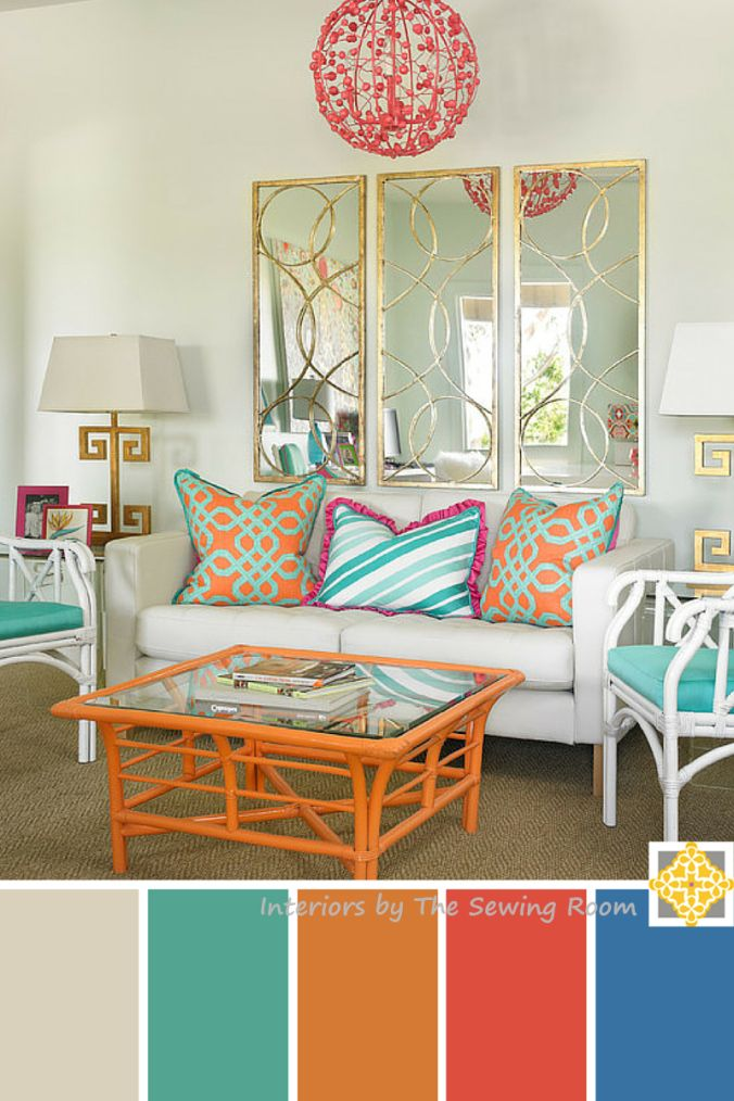 3 Bright Color Palettes For Your Home Bright Living Room Colourful Living Room Turquoise Room