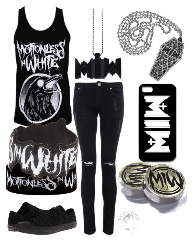 """""""Inspired!!"""" by kookies25531 ❤ liked on Polyvore featuring White Raven and Converse"""