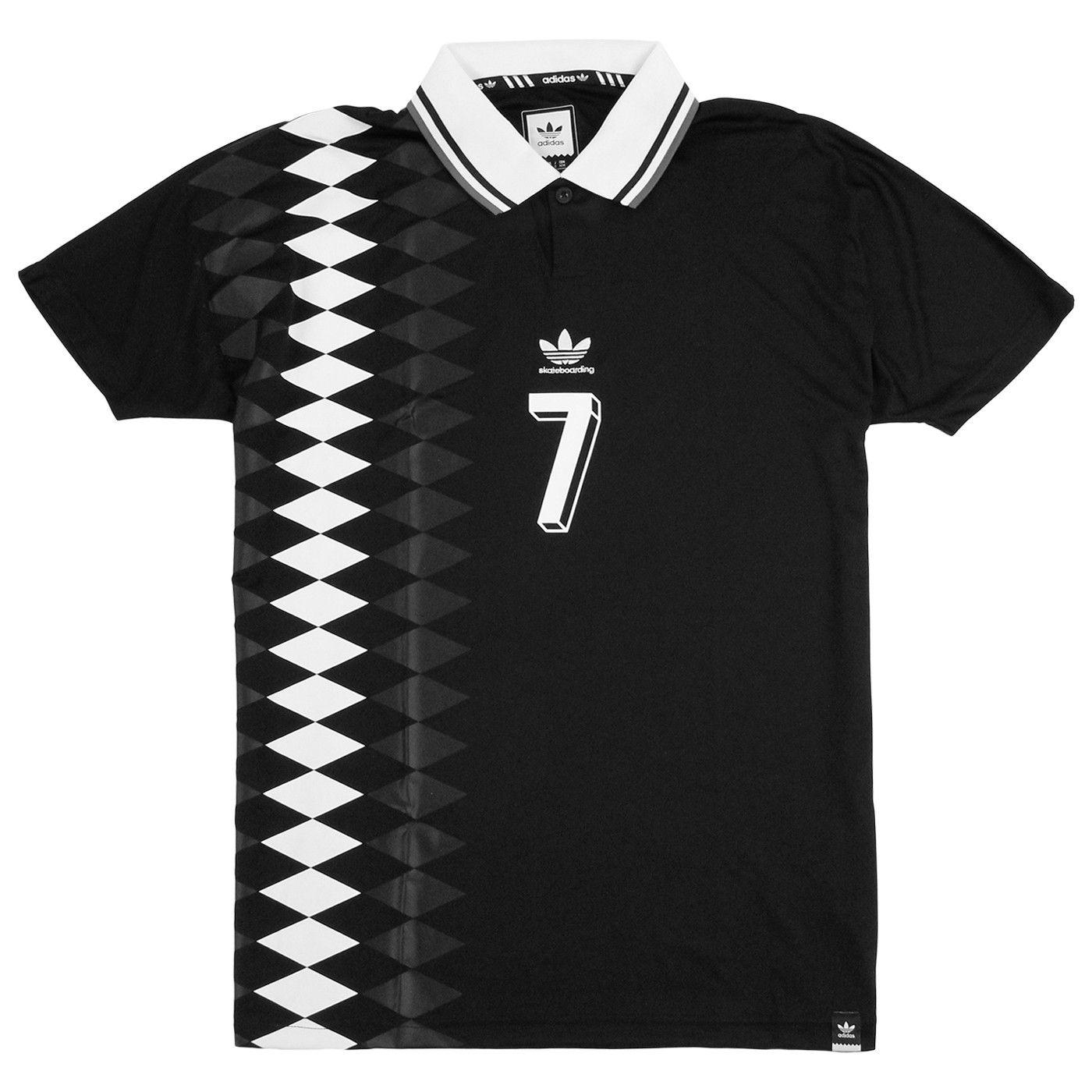 Adidas Skateboarding Lucas Copa Spain Jersey in Black  46a5f2d9f33e5