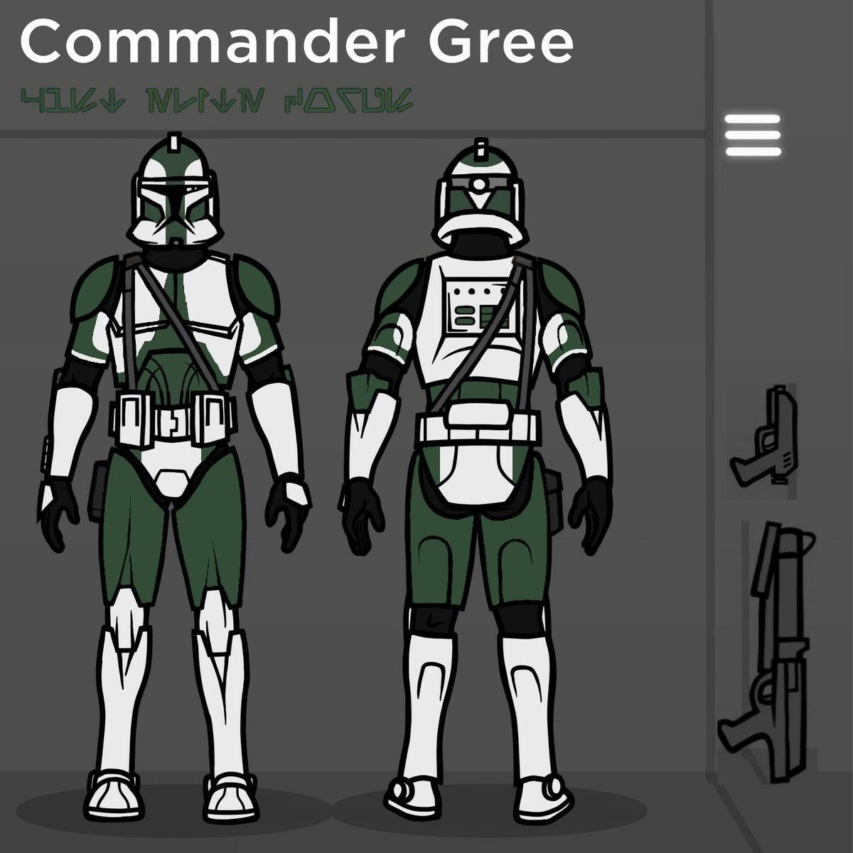 41st Commander Gree in 2020 Star wars pictures, Star