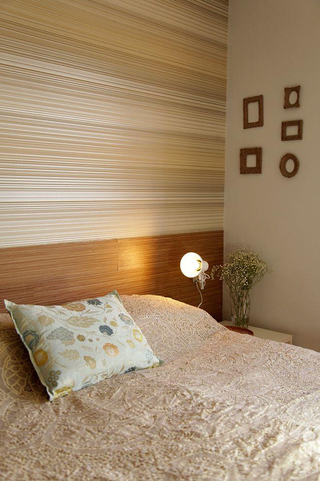 Faça você mesmo uma cabeceira de cama usando piso vinilico. DIY ...
