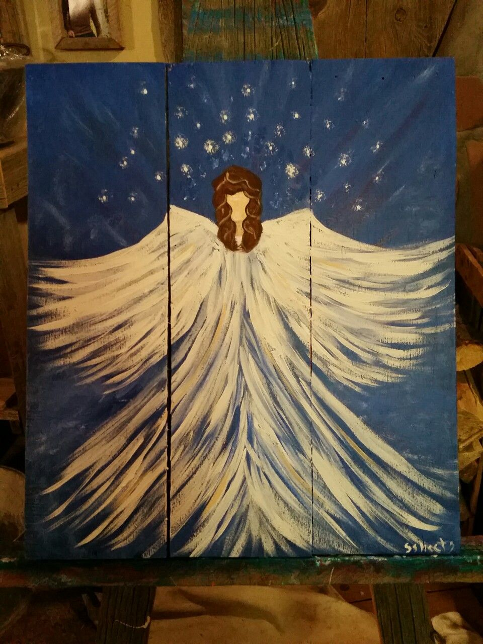 An angel art by Stacie Sheets