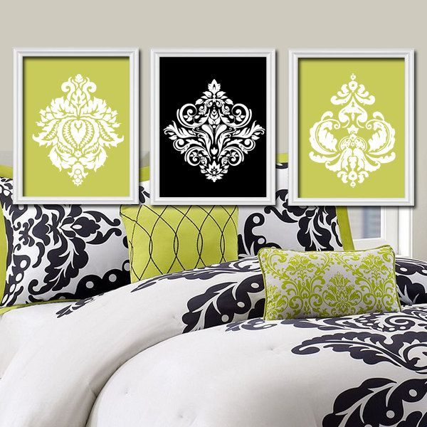 Dorable Black And White Damask Wall Art Elaboration - Wall Art ...