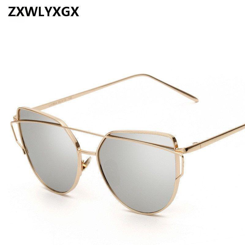 32cfeeff32 Women Luxury Cat Eye Sunglasses Mirror Rose Goggles Cateye Sun Glasses Sale   fashion  clothing  shoes  accessories  womensaccessories ...