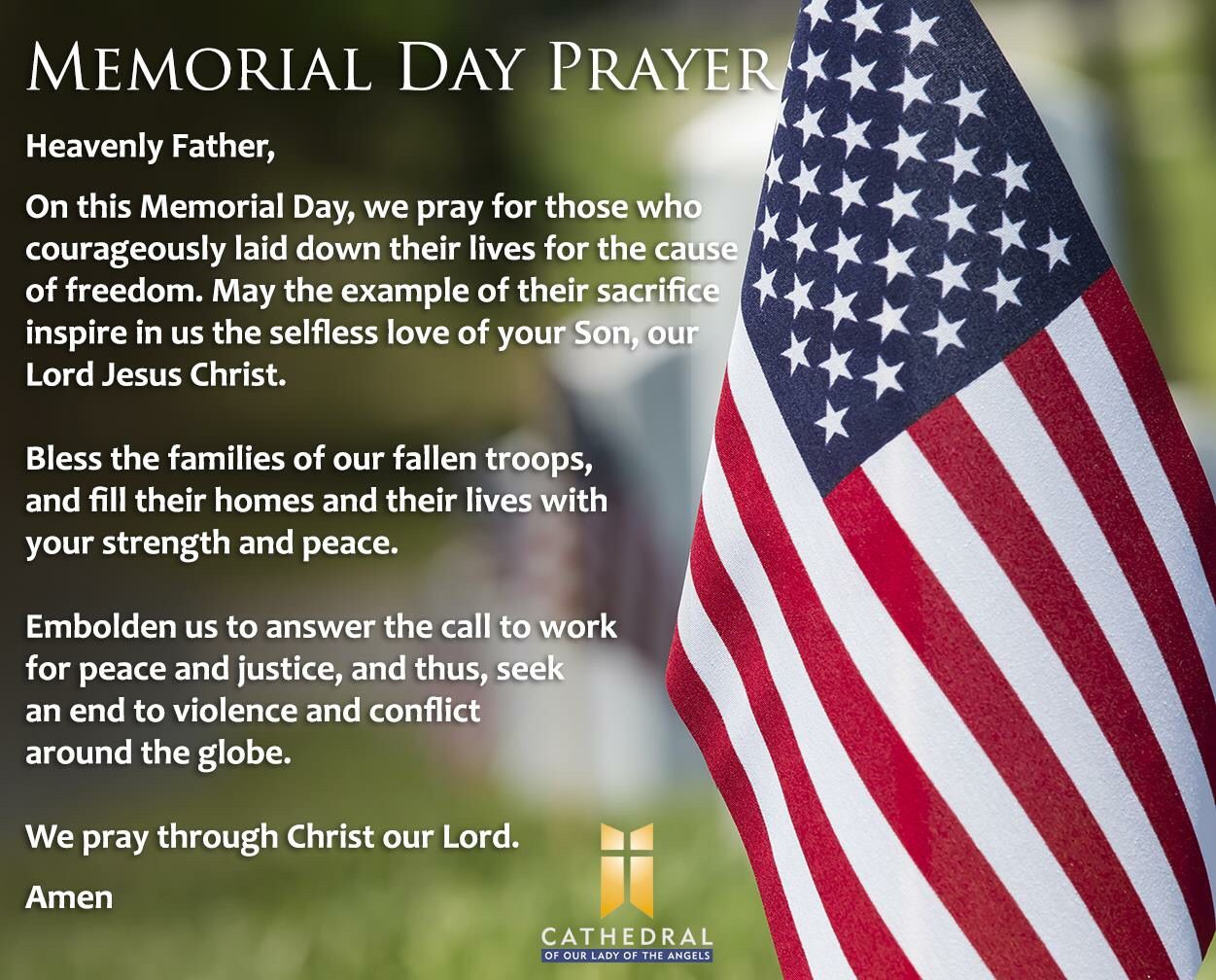 Memorial Day prayer (With images) | Memorial day prayer, Morning ...